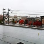 EVE3階からの眺め、雪が積もっています